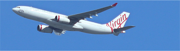 Virgin Airlines Travelling in Australia